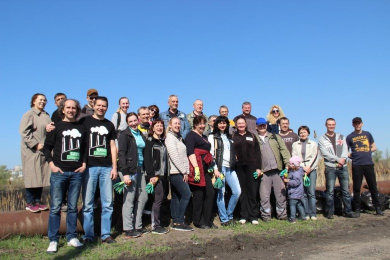 "Corporate action of DTEK ""Clean City"": Pridneprovskaya TPP landscapes the Dnieper"